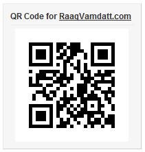 RaagVamdatt.com - Mobile version - QR Code