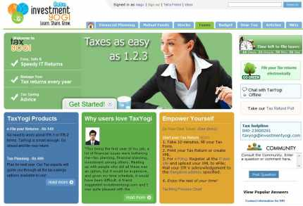online income tax return preparation service TaxYogi.com