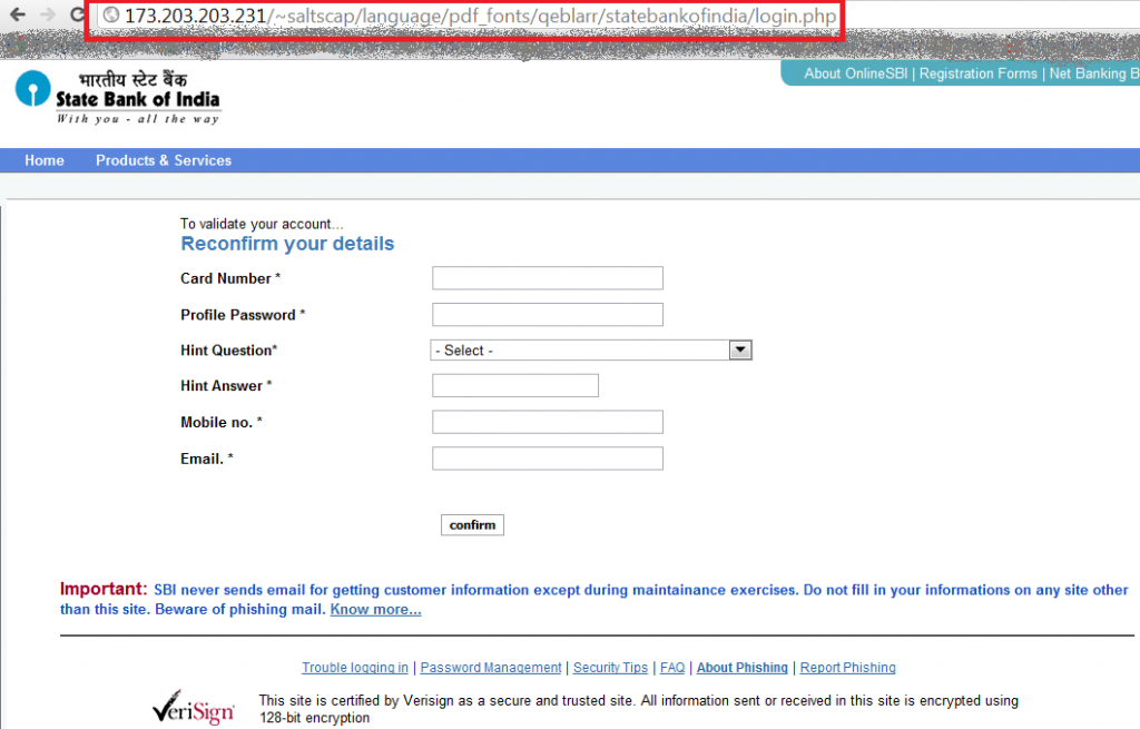 Income Tax Refund Scam - After Bank Login