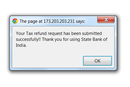 Income Tax Refund Fraud - Final Confirmation